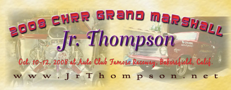 Jr. Thompson Grand Marshall at 08 CHRR